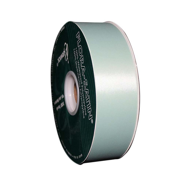 "1 7/16"" Sage Flora-Satin Ribbon"