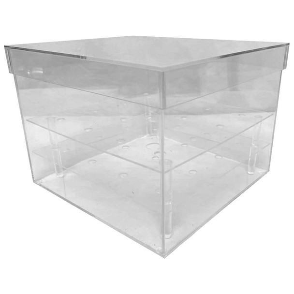 "8"" Clear Acrylic Square Flower Box"