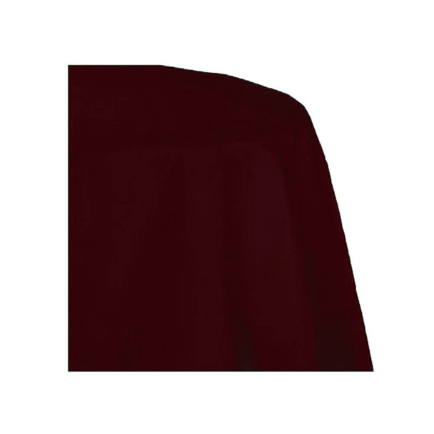 "120"" Burgundy Round Polyester Table Cover"