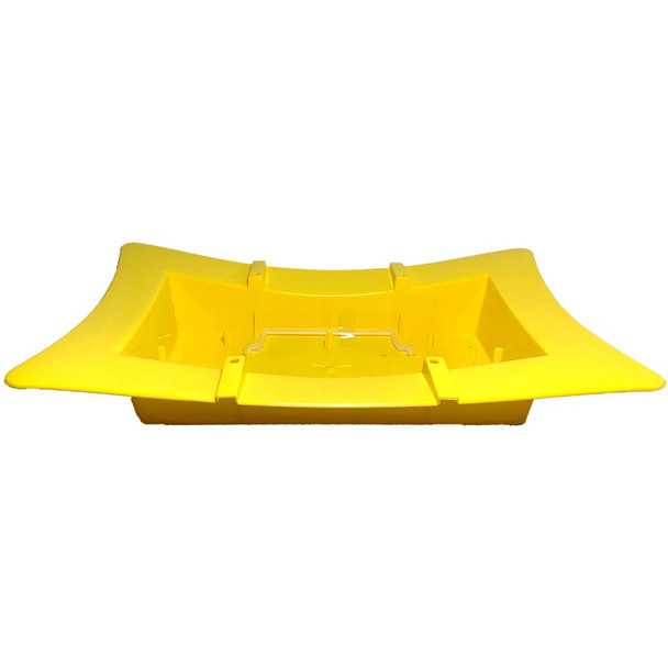 "13"" Oriental Full Brick Yellow Vase"