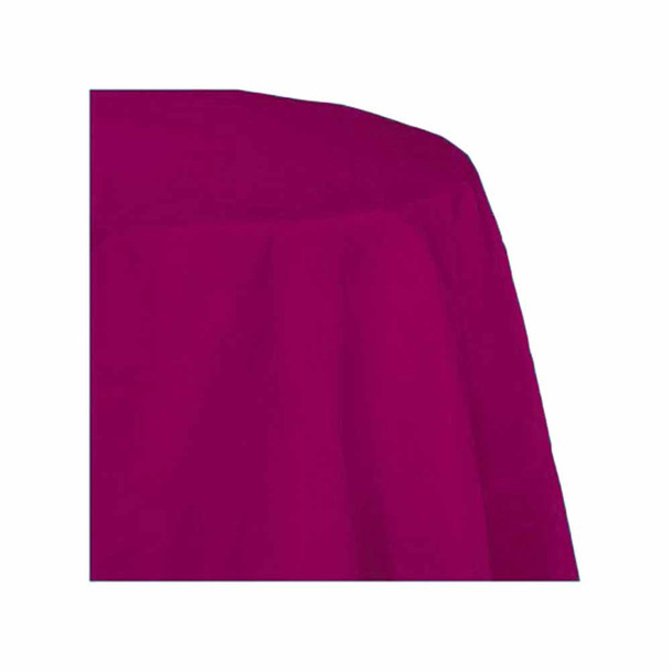 """120"""" Fuchsia Round Polyester Table Cover"""