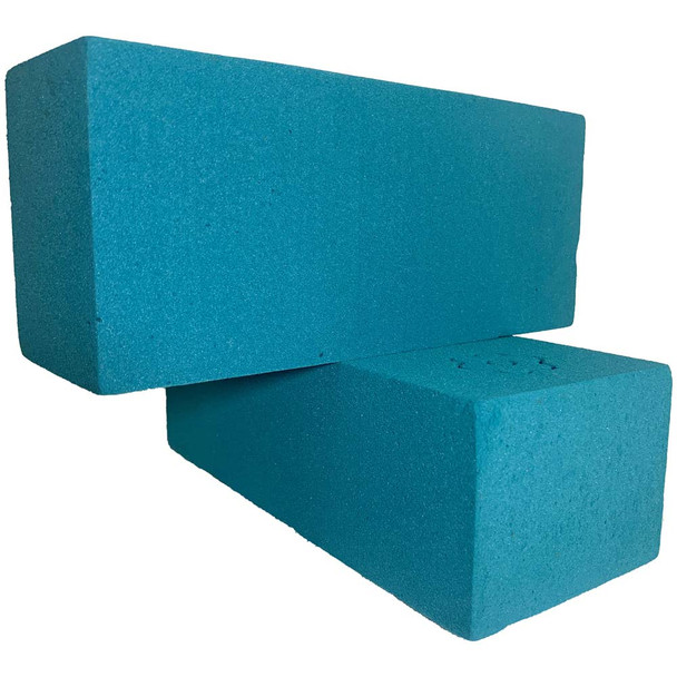 Turquoise Fresh Floral Foam Bricks - 12 Pieces