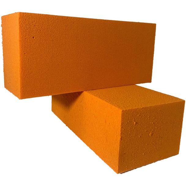 Orange Fresh Floral Foam Bricks - 12 Pieces