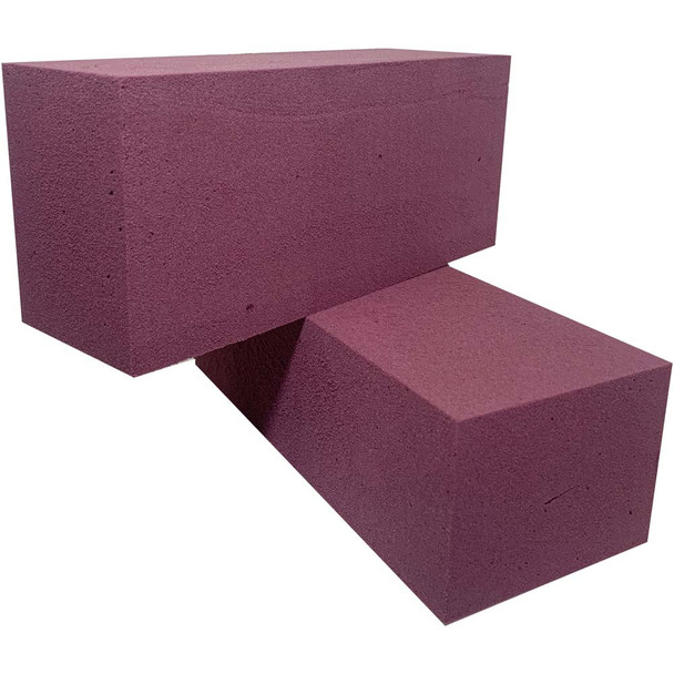 Purple Fresh Floral Foam Bricks - 12 Pieces
