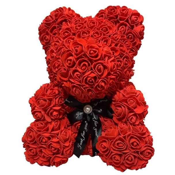 """14"""" Red Rose Foamy Teddy Bear in Box"""