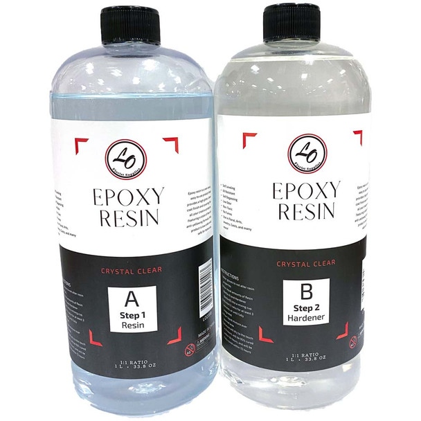Clear Floral Epoxy Resin & Hardener - 2 Liters