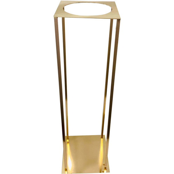 """31.5"""" Gold Pedestal Column with Round Opening"""
