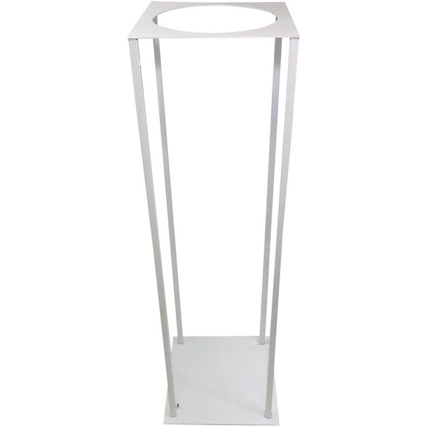 "31.5"" White Pedestal Column with Round Opening"