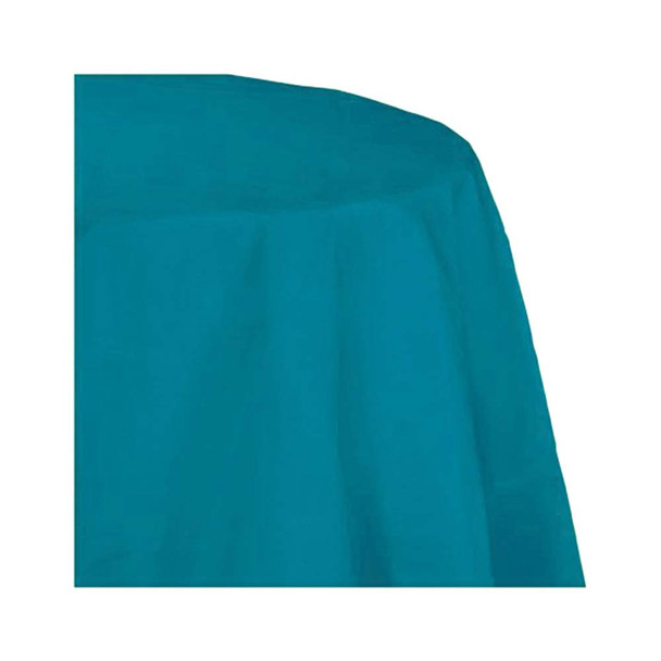 """120"""" Turquoise Round Polyester Table Cover"""