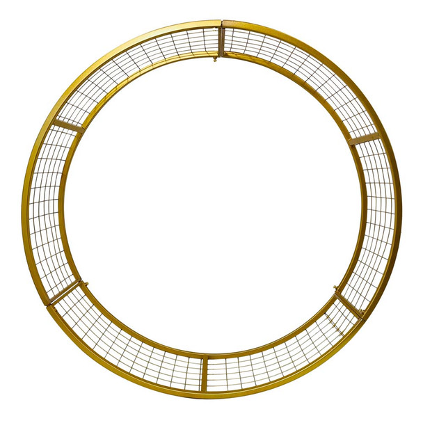"32"" Gold Round Floral Frame"