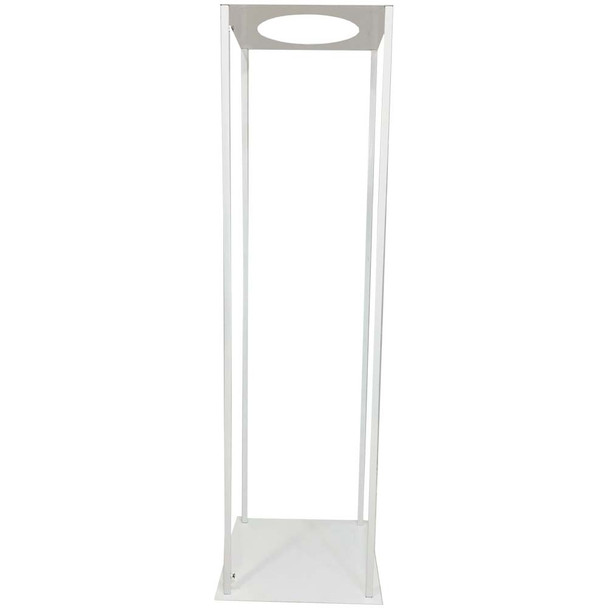 "39.5"" White Pedestal Column with Round Opening"
