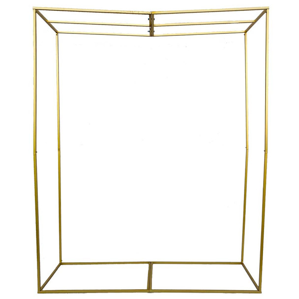 Oversized Gold Square Frame Floral Arch