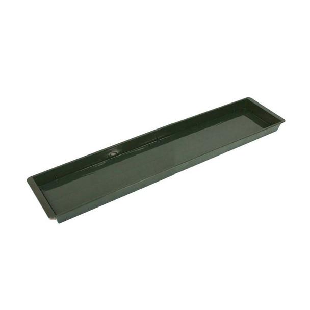 "20"" Green Double Brick Plastic Flat Tray"
