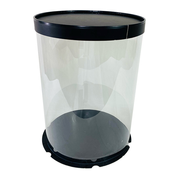 "12"" Tall Acrylic Round Display Box - Black"
