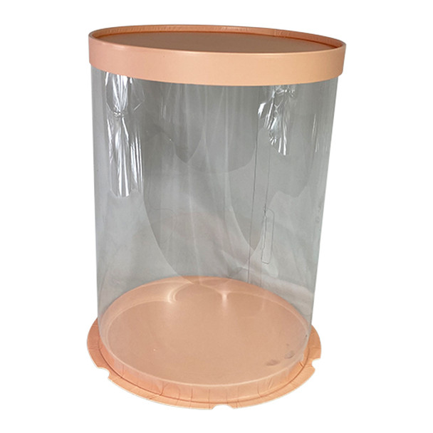 "12"" Tall Acrylic Round Display Box - Pink"