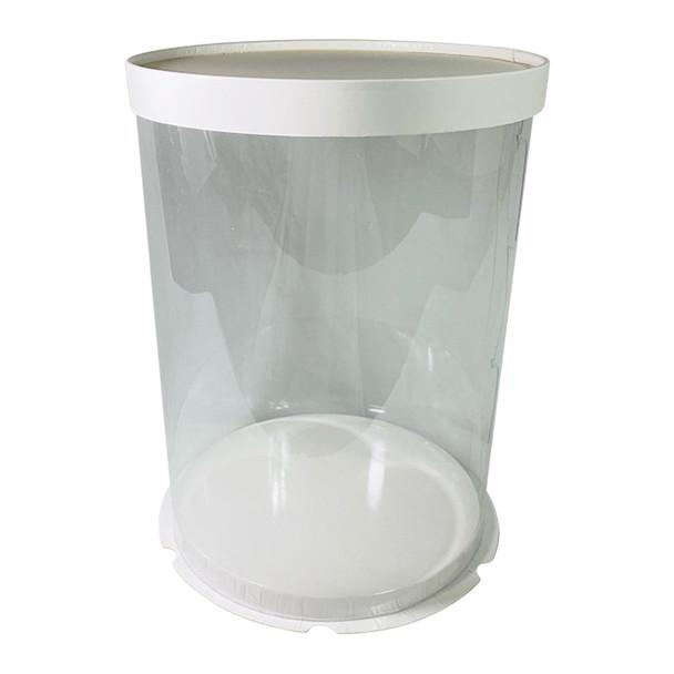 "12"" Tall Acrylic Round Display Box - White"