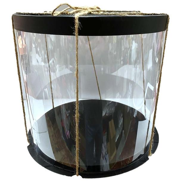 "10.5"" Acrylic Round Display Box - Black"