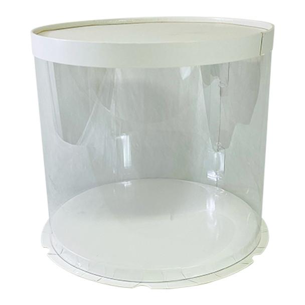 """10.5"""" Acrylic Round Display Box - White"""