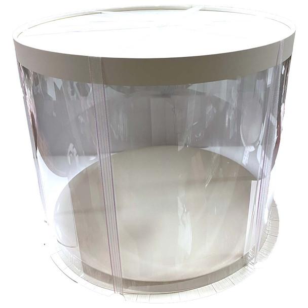 """12"""" Acrylic Round Display Box - White"""