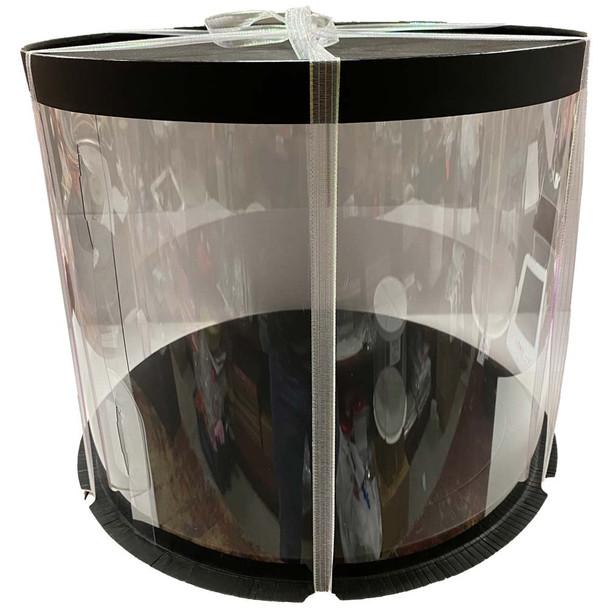 "12"" Acrylic Round Display Box - Black"