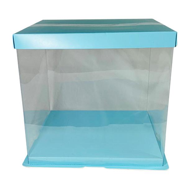 "9.75"" Acrylic Square Display Box - Blue"