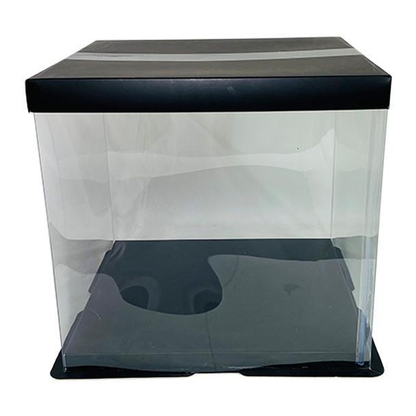 "9.75"" Acrylic Square Display Box - Black"