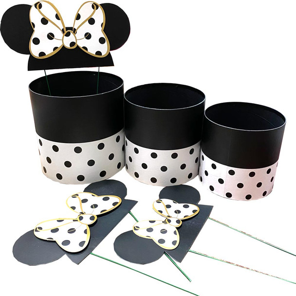 White Mouse Ears Floral Box Set of 3