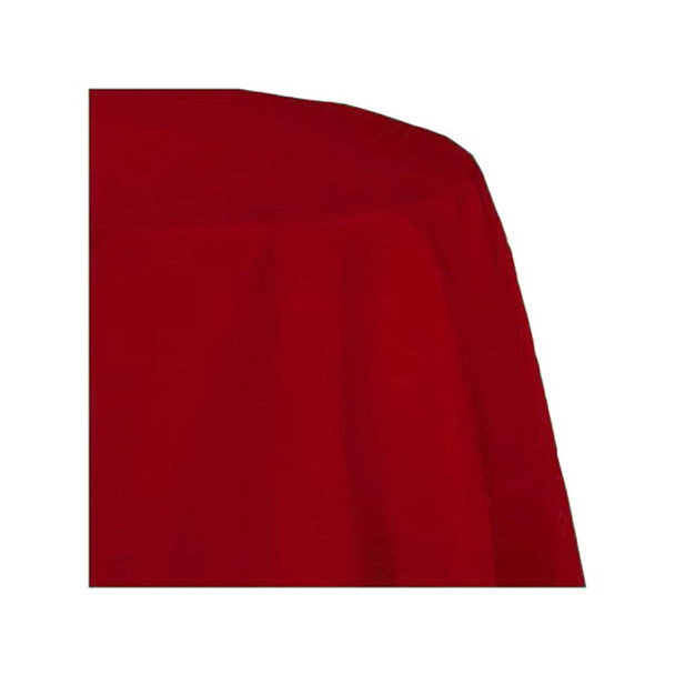 "90"" Red Round Polyester Table Cover"