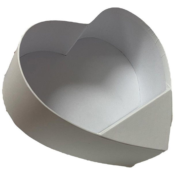 """10"""" White Standup Floral Heart"""