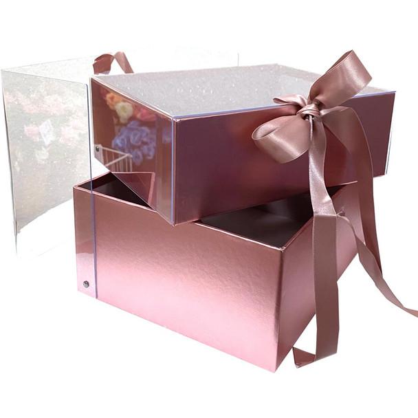 "9.5"" Luxury Berry & Flower Box - Rose Gold"