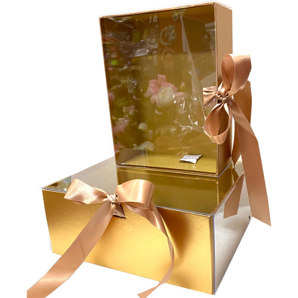 "9.5"" Luxury Berry & Flower Box - Gold"