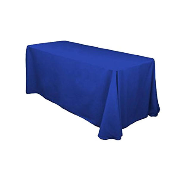 "90"" x 132"" Royal Blue Rectangular Polyester Table Cover"