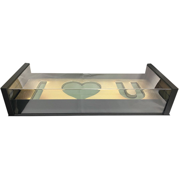 Acrylic Black Deep Love Floral Gift Box with Fresh Foam