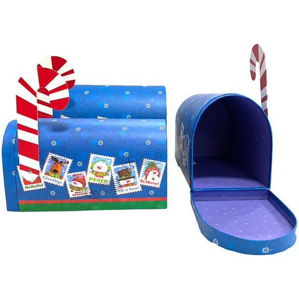 "10.5"" Holidays Mailbox - Set of 3 - Blue"