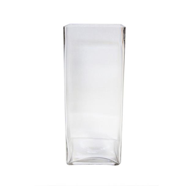 "12""H  Glass Square Block Vase"