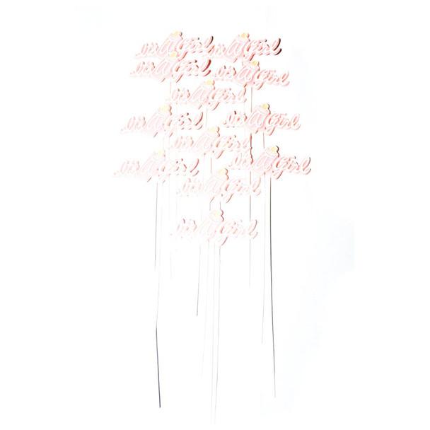 Plastic Pink Its A Girl Pick