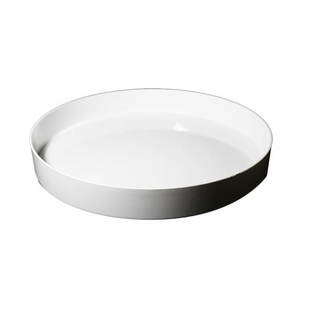 "11"" White Designer Tray"