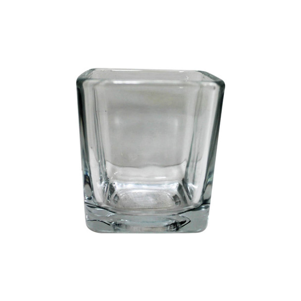 "3"" Clear Glass Cube Vase"