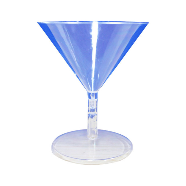 "3.5""H Clear Plastic Martini Glass"