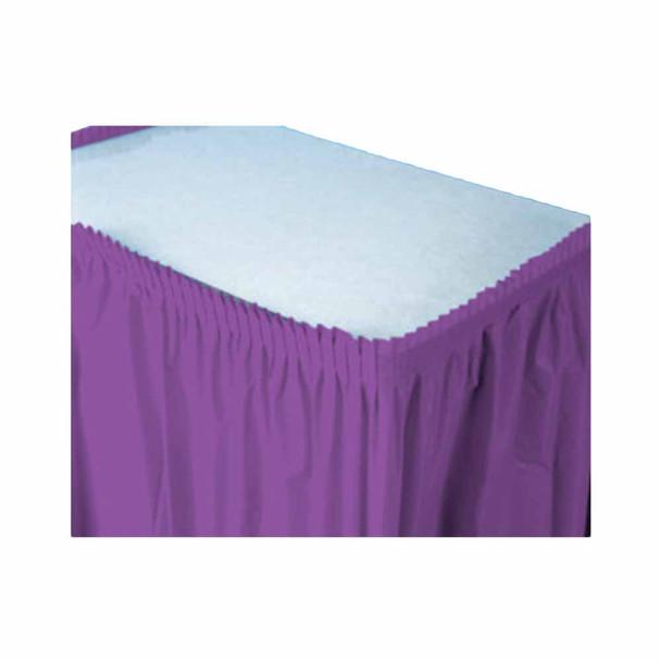 14 Ft  Purple Plastic Table Skirt