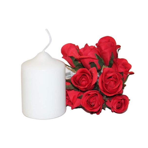 "2"" x 3"" White Pillar Candle"