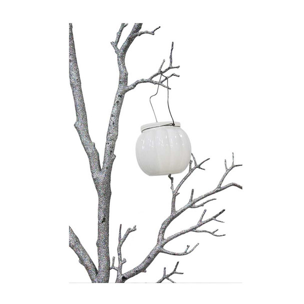 "3"" White Hanging Cup Candle Holder"