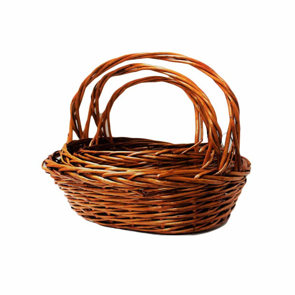 Willow Oval Basket 3 Pc Set