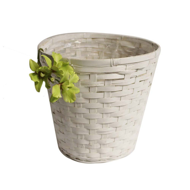"10"" White Pot Cover"