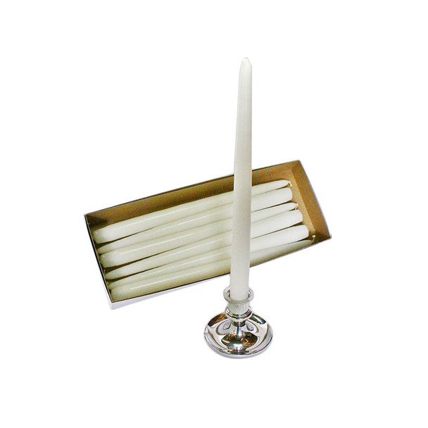 "12"" White Taper Candle"