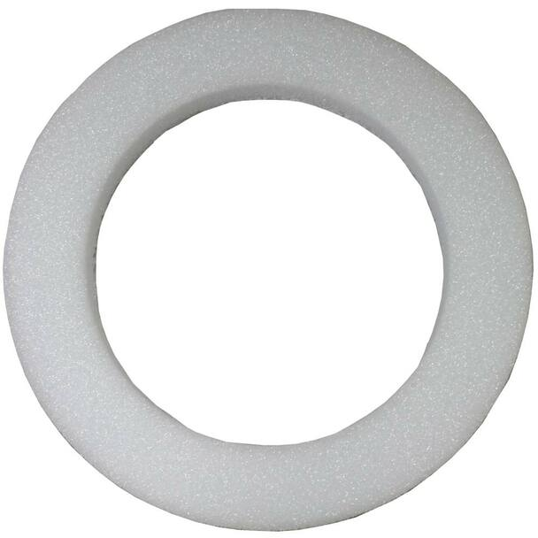 """22"""" x 2"""" White Styrofoam Wreath"""