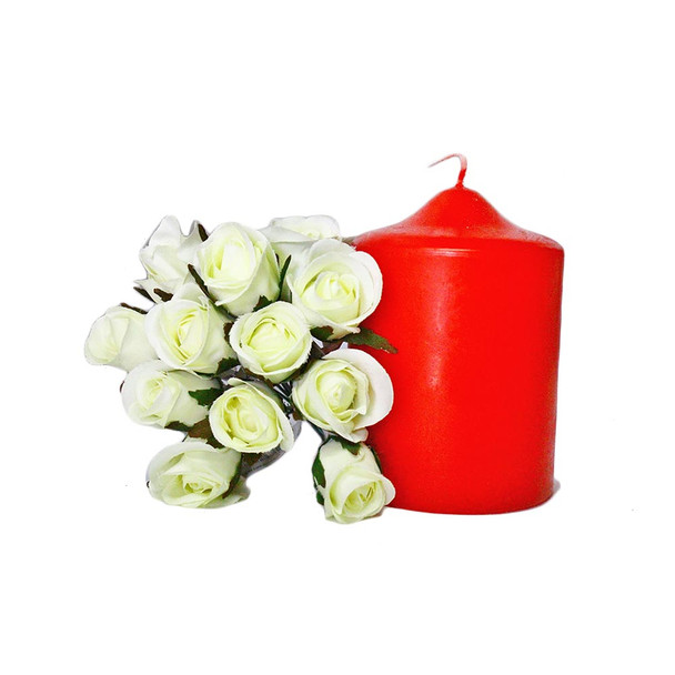"""3"""" x 4"""" Red Pillar Candle"""