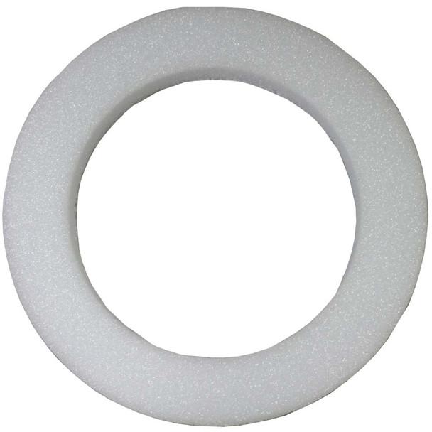 """18"""" x 2"""" White Styrofoam Wreath"""