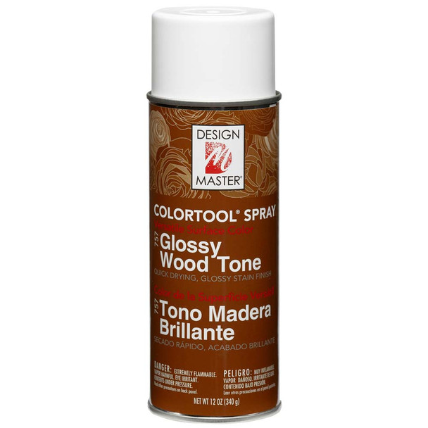 Glossy Wood Tone Color Spray