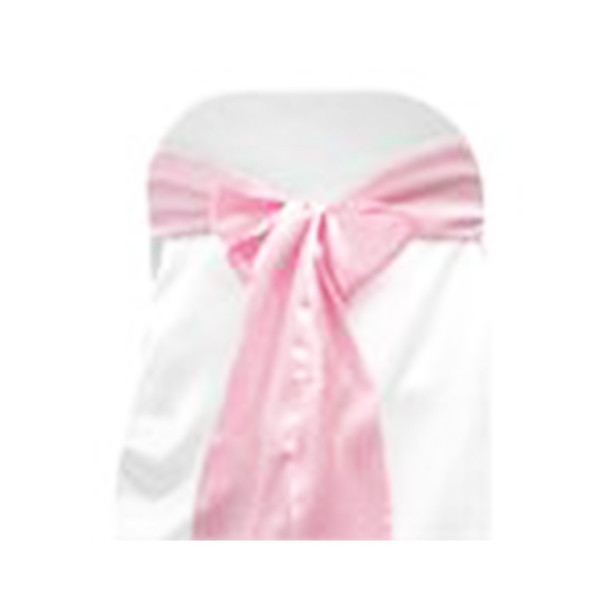 Pink Satin Chair Bow 10 Pcs